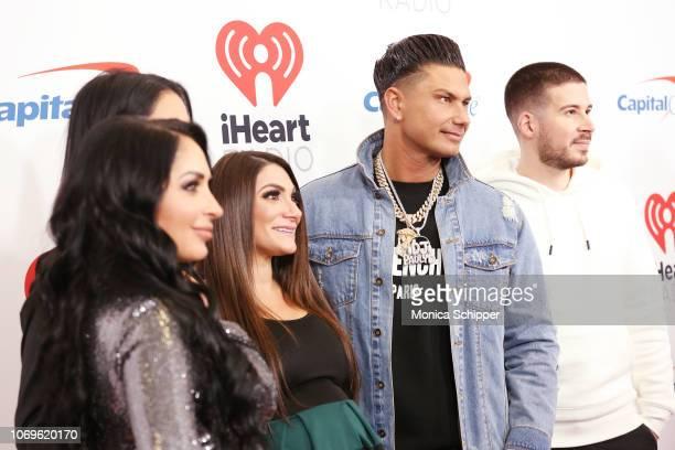 Angelina Pivarnick, Deena Cortese, Paul DelVecchio and Vinny Guadagnino attend Z100's Jingle Ball 2018 at Madison Square Garden on December 7, 2018...