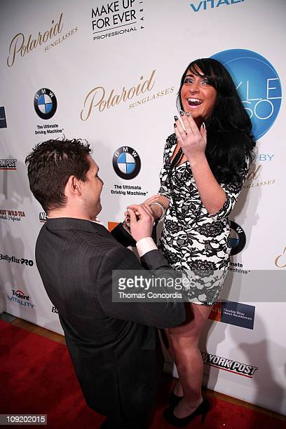 Angelina Pivarnick is proposed to by boyfriend David Kovacs at Sachika Fall Fashion Show at NYC Fashion Week STYLE360 presented by Polaroid Eyewear...