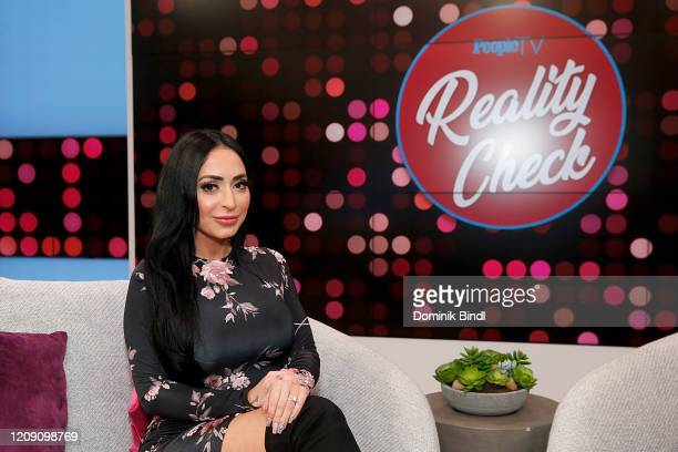Angelina Pivarnick visits Reality Check on February 27, 2020 in New York, United States.