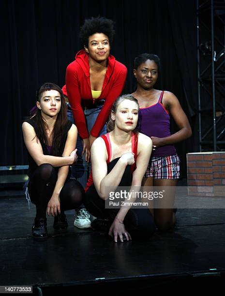 Angelina Prendergast Daphne Gabriel Clara Gabrielle and Jameelah Nuriddin perform at the 'Innocent Flesh' cast photo call at the Actors Temple...