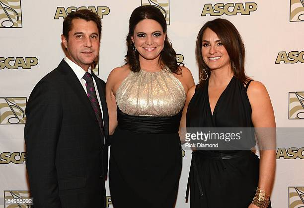 Angelina Presley with Michael Martin and LeAnn Phelan of ASCAP attend the 50th Annual ASCAP Country Music Awards at the Gaylord Opryland Hotel on...