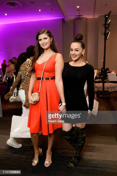 Angelina Stanek and Natalie Negrotti attend Beautycon Festival New York 2019 at Jacob Javits Center on April 07 2019 in New York City