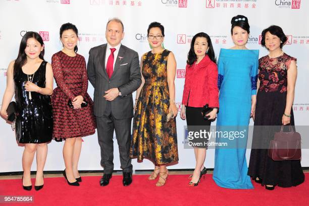 Angelina Sun Patricia Pan Philippe Galtie Katy Chen Miyoko Demay ChiuTi Jansen and guest attend the 2018 China Fashion Gala at The Plaza Hotel on May...