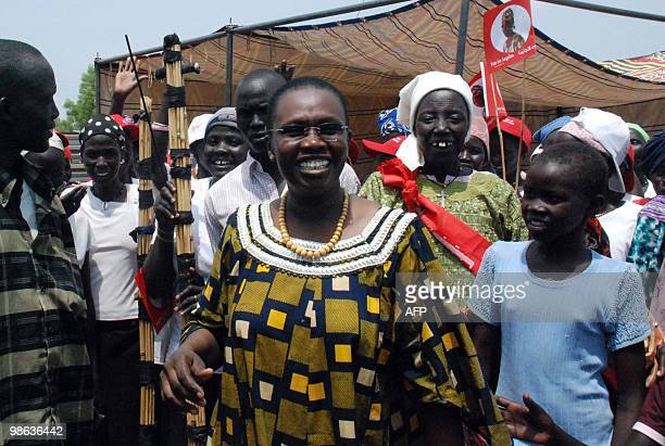 Angelina Teny a southern Sudanese independent candidate for the post of governor in the oil rich Unity state campaigns in the state capital Bentiu on...
