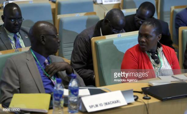 Angelina Teny the wife of the country's former Vice President Riek Machar participates in the Inter Governmental Authority on Development Council of...