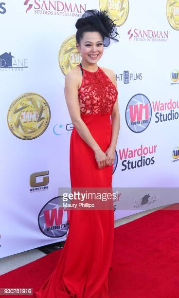 Angeline Leo attends Hollywood Stars Gala Academy Awards Viewing Party at Waldorf Astoria Beverly Hills on March 4, 2018 in Beverly Hills, California.