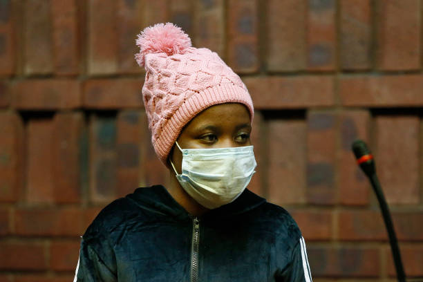 ZAF: A South African woman accused of killing boyfriend appears in court