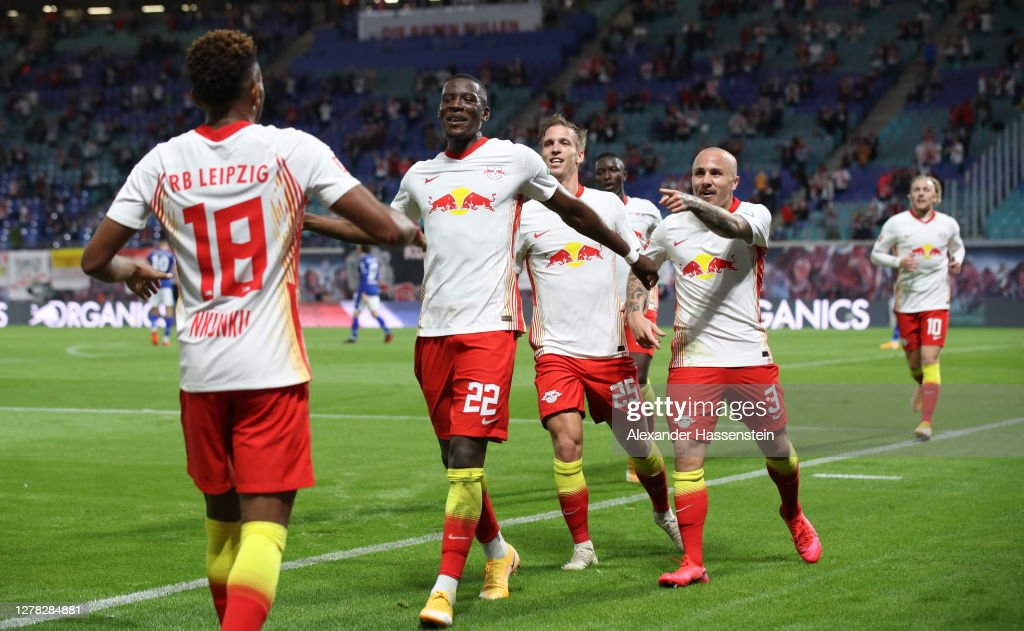 Angelino Of Rb Leipzig Celebrates With Teammates After Scoring His News Photo Getty Images