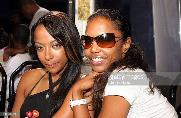 Angelique and Kim Porter during Behind The Scenes Of The Movie 'The System Within' 22 July 2005 at Rasputin in Brooklyn New York United States