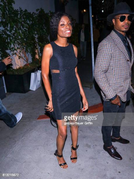Angelique Bates and Kevontay Jackson are seen on July 11 2017 in Los Angeles California