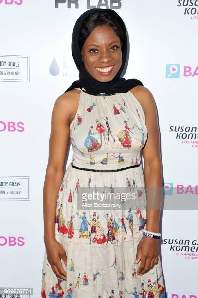 Angelique Bates attends Babes for Boobs Live Bachelor Auction Benefiting Susan G Komen LA County at El Rey Theatre on June 7 2018 in Los Angeles...