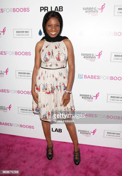 Angelique Bates attends the Babes for Boobs live auction benefiting Susan G Komen LA at El Rey Theatre on June 7 2018 in Los Angeles California