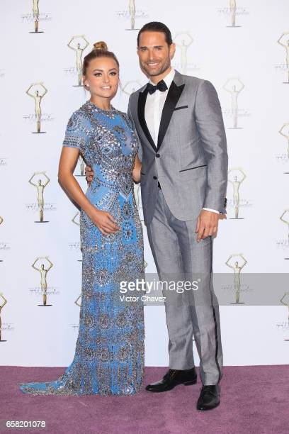 Angelique Boyer and Sebastian Rulli attend Premios Tv y Novelas 2017 at Televisa San Angel on March 26, 2017 in Mexico City, Mexico.