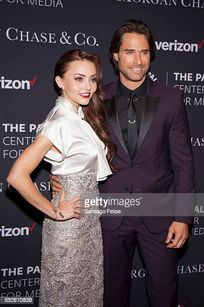 Angelique Boyer and Sebastian Rulli attend The Paley Center for Media's Tribute To Hispanic Achievements in Television at Cipriani Wall Street on May...
