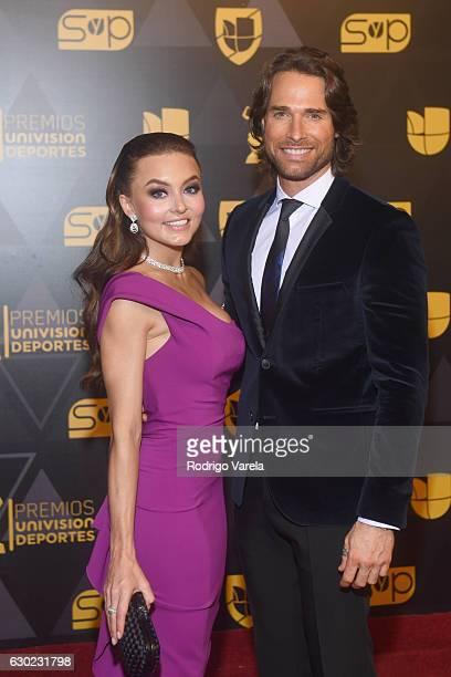 Angelique Boyer and Sebastian Rulli attend the Premios Univision Deportes 2016 at Univision Studios on December 18 2016 in Miami Florida