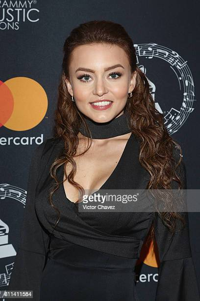 Angelique Boyer attends the Latin Grammy Acoustic Sessions Mexico City 2016 at Casa Del Lago Chapultepec on September 28 2016 in Mexico City