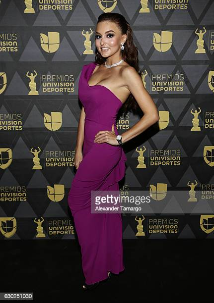 Angelique Boyer is seen arriving at Premios Univision Deportes 2016 on December 18 2016 in Miami Florida