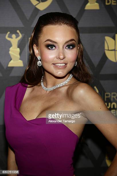 Angelique Boyer is seen arriving at Premios Univision Deportes 2016 on December 18, 2016 in Miami, Florida.