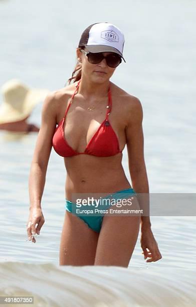 Angelique Boyer is seen on September 11, 2015 in Marbella, Spain.