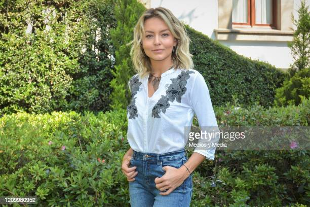 Angelique Boyer poses for photo during the first day of filming of the soap opera 'Imperio de Mentiras' on March 2, 2020 in Mexico City, Mexico.