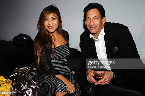 Angelique Brando and guest attend the afterparty for amfAR's second annual Cinema Against AIDS Rome at the Galleria Borghese on October 24 2008 in...