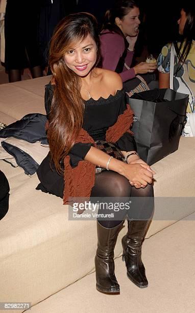 Angelique Brando attends 'Salvatore Ferragamo Evolving Legend' held at the Triennale Design Museum during Milan Fashion Week Spring/Summer 2009 on...