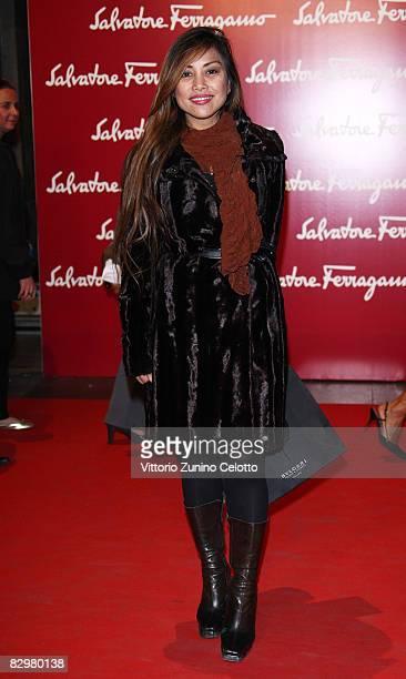 Angelique Brando attends 'Salvatore Ferragamo Evolving Legend' exhibition opening during Milan Fashion Week Spring/Summer 2009 on September 23 2008...