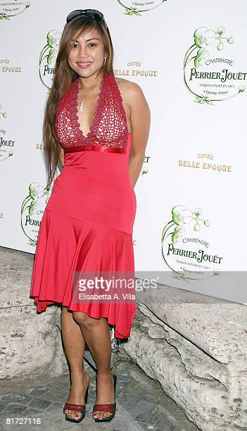 Angelique Brando attends the 'Beauty Of Senses' event held at the Hotel St George on June 26 2008 in Rome Italy During the event the Maison...