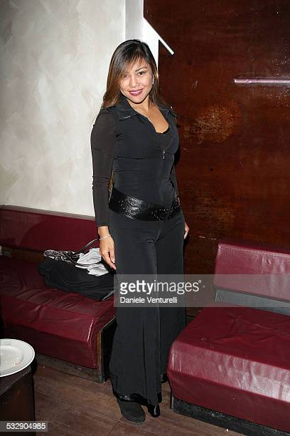 Angelique Brando attends the Capri Hollywood Film Festival Milan Dinner Party at Old Fashion Cafe on October 13 2008 in Milan Italy