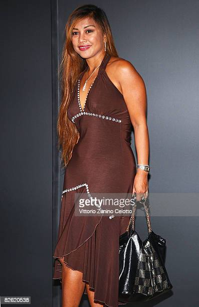 Angelique Brando attends the Gucci Awards at the Palazzo Grassi during the 65th Venice Film Festival on September 1 2008 in Venice Italy