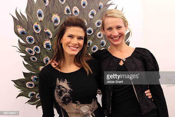Angelique De Luca and Katharine Kidd attend the 'Lauren Moshi Gallery for Free Arts for Abused Children' event at Lauren Moshi Gallery on December 6...