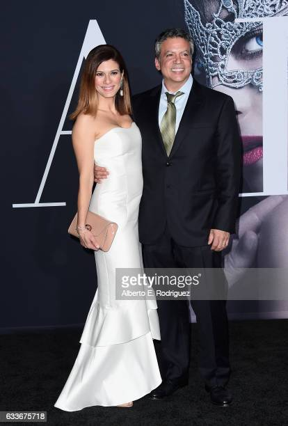 Angelique De Luca and producer Michael De Luca attends the premiere of Universal Pictures' 'Fifty Shades Darker' at The Theatre at Ace Hotel on...