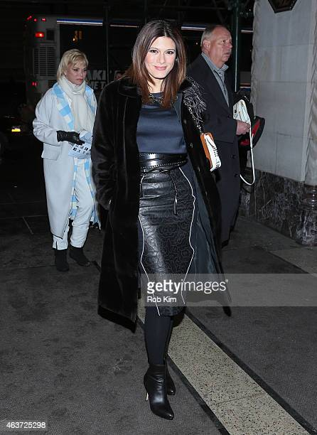 Angelique De Luca arrives for the Oscar De La Renta fashion show on February 17 2015 in New York City