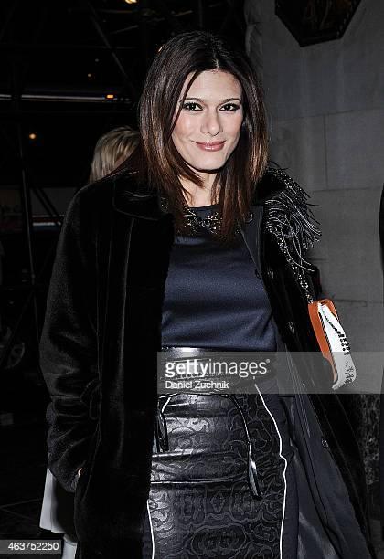 Angelique De Luca is seen outside the Oscar de la Renta show on February 17 2015 in New York City