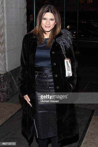 Angelique DeLuca attends the Oscar De La Renta show during MercedesBenz Fashion Week Fall 2015 on February 17 2015 in New York City