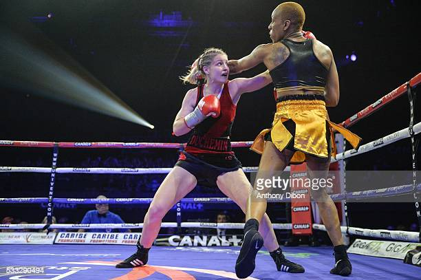 Angelique Duchemin and Taoussy l Hadji during the World Championship WBA at Dome de Paris Palais des Sports on May 20 2016 in Paris France