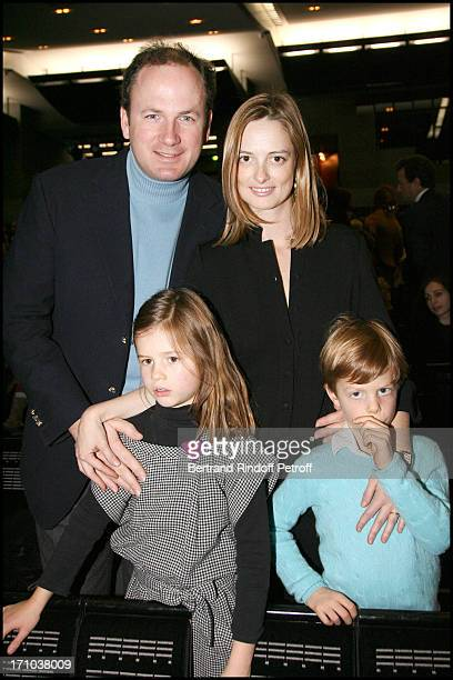 Angelique Hennessy Motte and husband Frederic Motte and their children Daughter Casilda Motte and son Maximilien Motte at The Reve D'Enfants 2009...