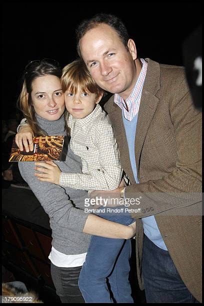 Angelique Hennessy Motte with husband Frederic Motte and son Maximilien Motte at The Reve D'Enfants Matinee Performance Of Swan Lake At The Opera...