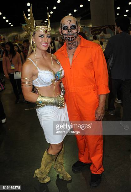 Angelique Kenney and Eddie Perez on day 2 of Stan Lee's Los Angeles Comic Con 2016 held at Los Angeles Convention Center on October 29 2016 in Los...