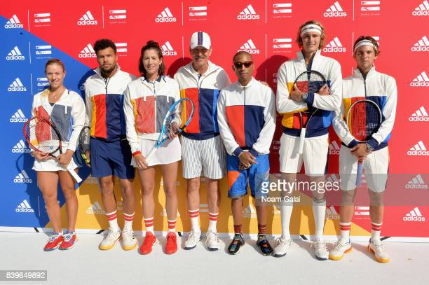Angelique Kerber JoWilfried Tsonga Garbine Muguruza Stan Smith Pharrell Williams Sascha Zverev and Dominic Theim attend adidas Tennis Pharrell...