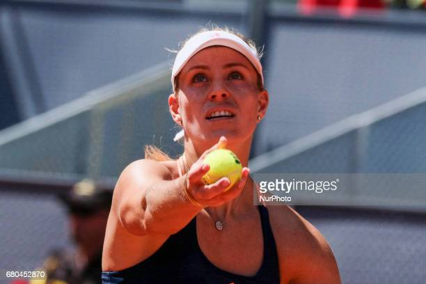 Angelique Kerber of Germany against Katerina Siniakova during day three of the Mutua Madrid Open tennis at La Caja Magica on May 8 2017 in Madrid...