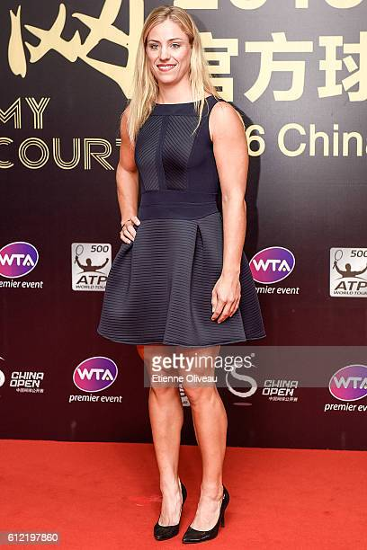 Angelique Kerber of Germany arrives at the 2016 China Open Player Party at The Birds Nest on October 3 2016 in Beijing China