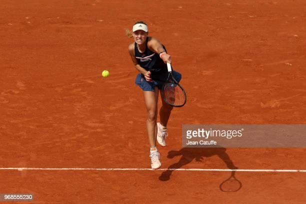 Angelique Kerber of Germany during Day 11 of the 2018 French Open at Roland Garros stadium on June 6 2018 in Paris France