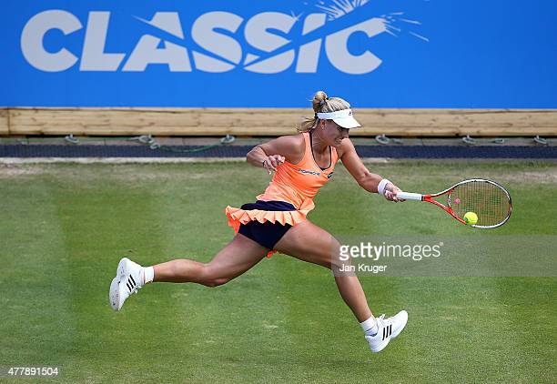 Angelique Kerber of Germany in action against Sabine Lisicki of Germany in their semi final match on day six of the Aegon Classic at Edgbaston Priory...