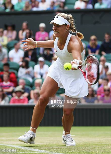Angelique Kerber of Germany in action during her Ladies' Singles second round match against Heather Watson of Great Britain on day four of the...