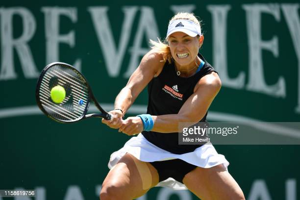 Angelique Kerber of Germany on her way to a quarter final victory over Simona Halep of Romania on day 4 of the Nature Valley International at...