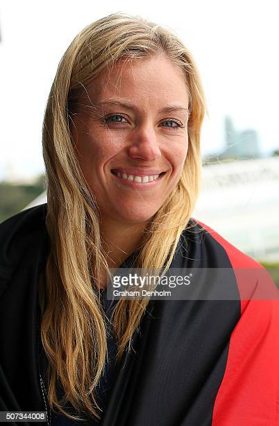 Angelique Kerber of Germany poses during day twelve of the 2016 Australian Open at Melbourne Park on January 29 2016 in Melbourne Australia