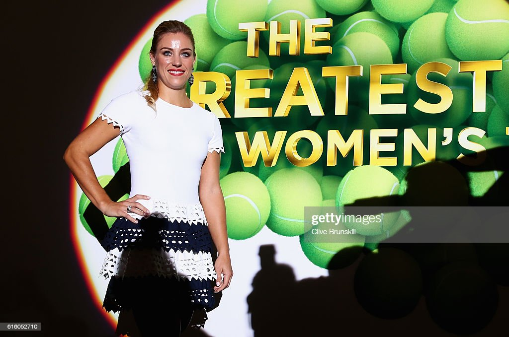 Angelique Kerber of Germany poses during the Official Draw Ceremony prior to the BNP Paribas WTA Finals Singapore at Marina Bay Sands on October 21, 2016 in Singapore.