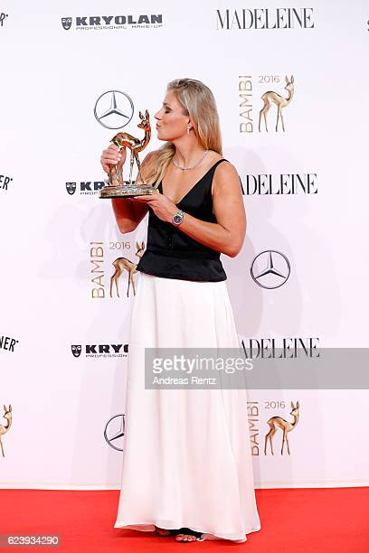 Angelique Kerber wearing Tiffany arrives at the Bambi Awards 2016 at Stage Theater on November 17 2016 in Berlin Germany