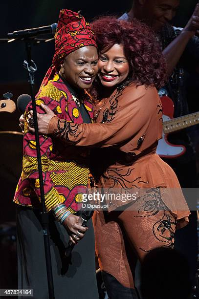 Angelique Kidjo and Chaka Khan perform onstage during The Jazz Foundation Of America's 13th Annual 'A Great Night In Harlem' Gala Concert at The...